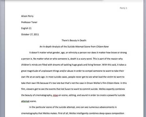 Short Essay Memoirs