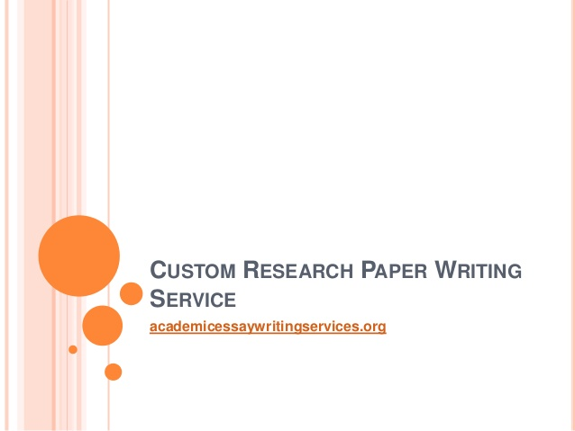 custom research paper writing